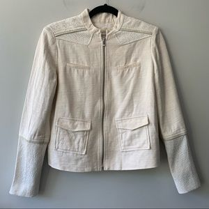 Maje Linen Blend Beige Jacket